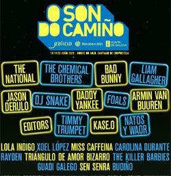 Foals, The National, Editors, Bad Bunny y Daddy Yankee, conciertos del O Son do Camiño