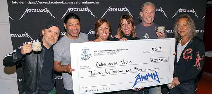 Gran gesto de Metallica, descubre a que ONGs de Cádiz donan 50.000 euros